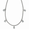 Brighton Meridian Zenith Station Necklace Silver