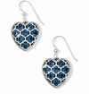 Brighton Messina Silve and Blue French Wire Earrings