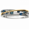 Brighton Neptune's Rings Gems Hinged Bangle