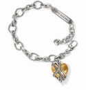 Brighton Neptune's Rings Golden Heart Bracelet