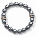 Brighton Neptune's Rings Gray Pearl Stretch Bracelet