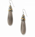 Brighton Neptune's Rings Pyramid Banded Agate French Wire Earrings
