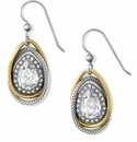 Brighton Neptunes Rings Gem Teardrop French Wire Earrings