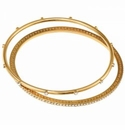 Brighton Neptunes Rings Pave Bangle Set Gold