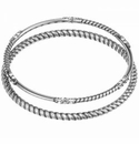 Brighton Neptunes Rings Rope Bangle Set Silver