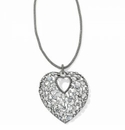Brighton One Love Convertible Heart Necklace Silver