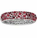 Brighton One Love Hinged Bangle Ruby