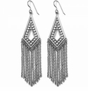 Brighton Pebble Disc Fringe French Wire Earrings
