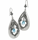 Brighton Sahara Drop French Wire Earrings Silver-Blue