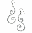 Brighton Sea Of Love Crystal French Wire Earrings Silver