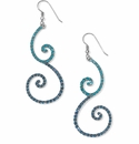 Brighton Sea of Love French Wire Earrings Silver-Blue