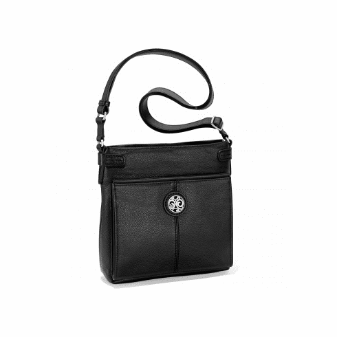 Brighton Selena Super Organizer Purse with Wallet - Black Leather