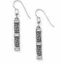 Brighton Silver Baroness French Wire Earrings
