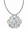 Brighton Silver Geneva Heart Statement Necklace