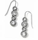 Brighton Silver Infinity Sparkle French Wire Earrings