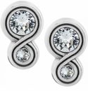 Brighton Silver Infinity Sparkle Post Earrings