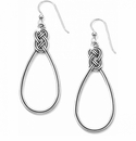 Brighton Silver Interlok French Wire Earrings