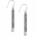 Brighton Silver London Groove Reversible French Wire Earring