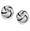 Brighton Silver Love Me Knot Mini Post Earrings