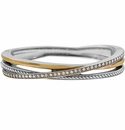 Brighton Silver Neptune's Rings Narrow Hinged Bangle