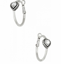 Brighton Silver Shimmer Heart Small Hoop Earrings