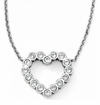 Brighton Silver U R Loved Heart Necklace