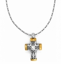 Brighton Silver Venezia Petite Cross Necklace