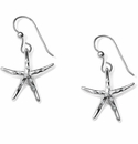 Brighton Water Starfish French Wire Earrings Silver