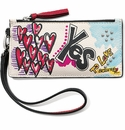 Brighton Yes to Love Card Pouch Wristlet Multi Color