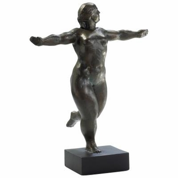 Bronzed Iron Dancing Lady Sculpture by Cyan Design