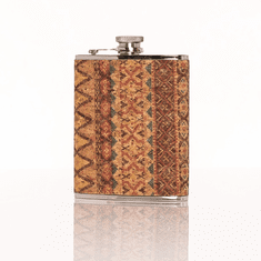Brouk and Co 6oz Corked Flask - Native Design