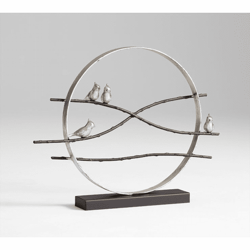 Cardinals on Limbs Modern Iron Sculpture by Cyan Design