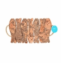 Casafina Cork Collection 7-Fish Trivet with Rope Handles