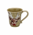 Casafina Deer Friends Coffee Mugs Set of 6 Green
