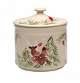 Casafina Deer Friends Cookie Jar Linen