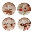 Casafina Deer Friends Dinner Plates Set (4) Linen