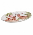 Casafina Deer Friends Large Oval Platter White