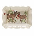 Casafina Deer Friends Linen Large Rectangular Baker