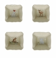 Casafina Deer Friends Linen Square Ramekins (4)