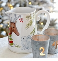 Casafina Deer Friends Pitcher White