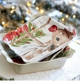 Casafina Deer Friends Square Tray Linen
