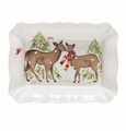 Casafina Deer Friends White Large Rectangular Baker