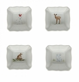 Casafina Deer Friends White Square Ramekins (4)