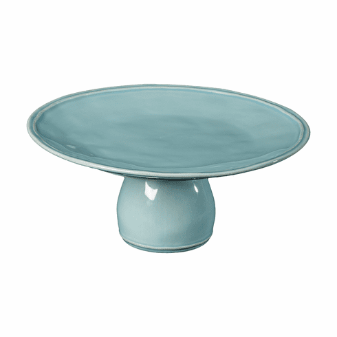 Casafina Fontana Footed Plate - Turquoise