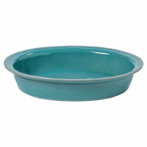 Casafina Fontana Turquoise Oval Baker 16 In