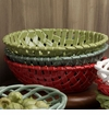 Casafina Green Large Oval Ceramic Bread Basket