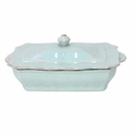 Casafina Impressions Robins Egg Blue Rectangular Covered Casserole