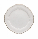 Casafina Impressions White & Gold Charger Plate Platter