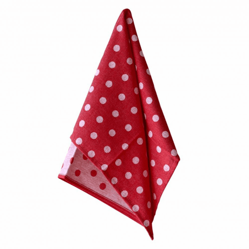 Casafina Kitchen Towel Dots Red