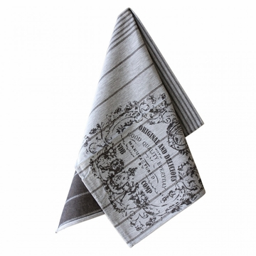 Casafina Kitchen Towel Original & Delicious Dark Gray (6)